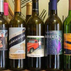 custom wine labels on bottles